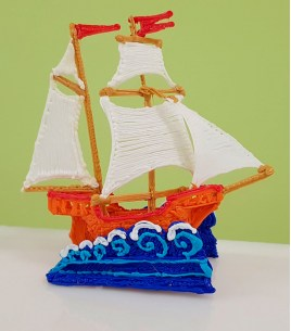 Бесплатный мастер класс 3D ручкой «Кораблик»