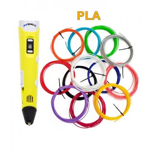 3D-Ручка MyRiwell RP-100B + 60 м PLA (12 кольорів). Набір PRO