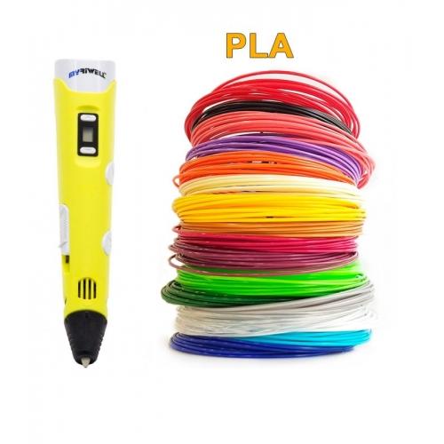3D-Ручка MyRiwell RP-100B + 90 м PLA (18 кольорів). Набір Super
