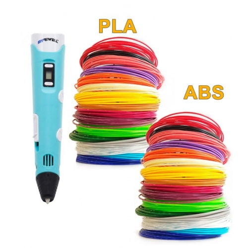3D-Ручка MyRiwell RP-100B + 180 м (PLA + ABS по 18 кольорів). Набір GIGANT