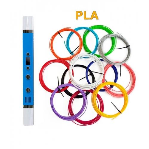 3D-Ручка MyRiwell RP-100C + 60 м PLA (12 кольорів). Набір PRO