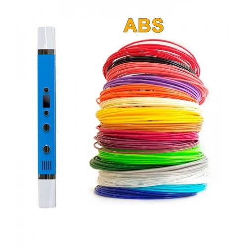 3D-Ручка MyRiwell RP-100C + 90 м ABS (18 цветов). Набор Super
