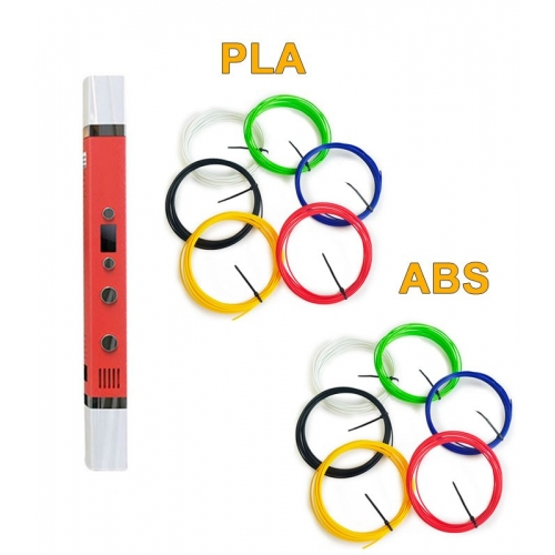 3D-Ручка MyRiwell RP-100C + 60 м (PLA + ABS по 6 цветов). Набор VIP