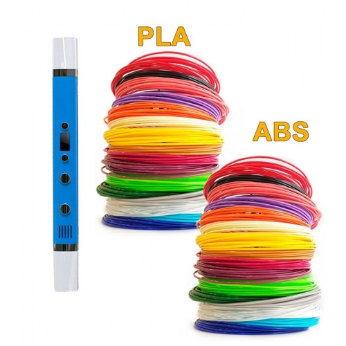 3D-Ручка MyRiwell RP-100C + 180 м (PLA + ABS по 18 цветов). Набор Gigant