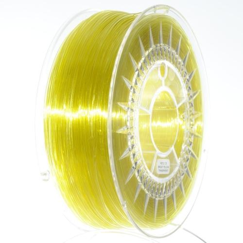 PETG 1.75 мм ярко-желтый прозрачный Devil Design (Польша)