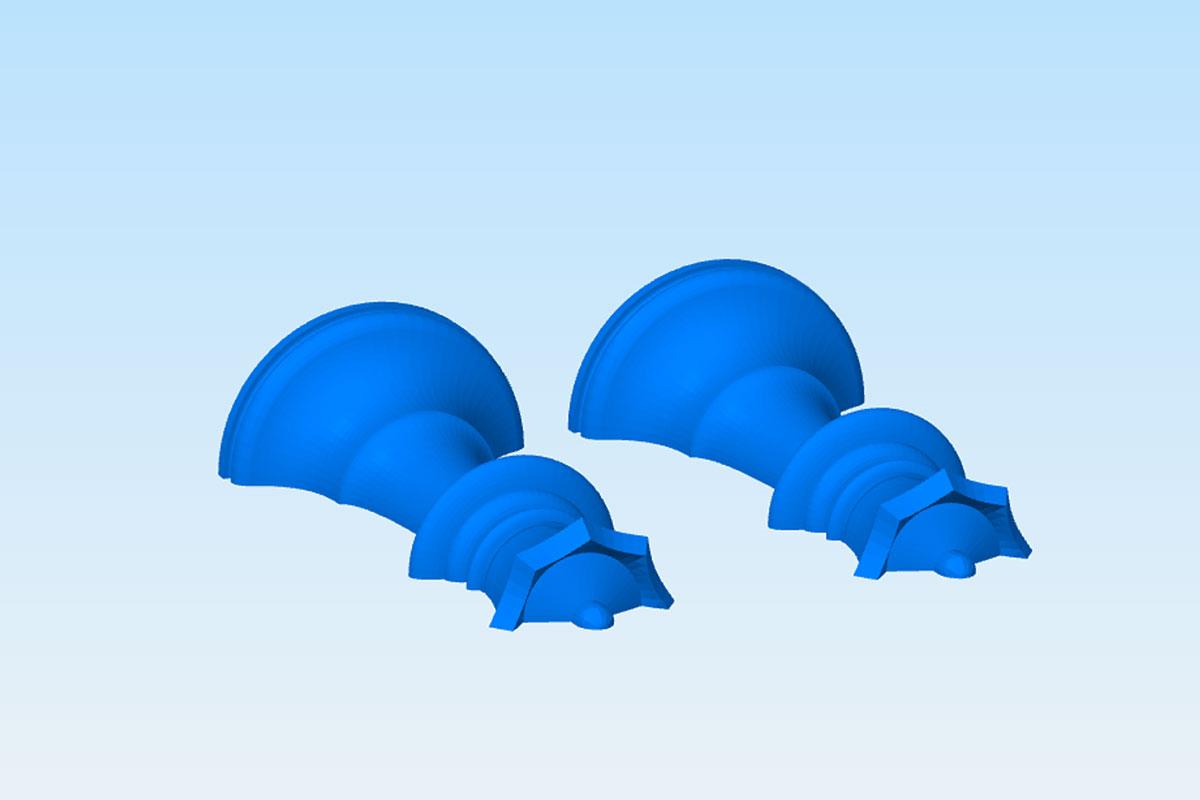 Разделение детали для экономии 3D печати