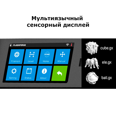 Guider II touch-screen