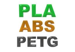 PLA, ABS, PETG. В чем разница?